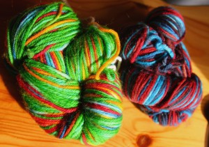 Photo of first dyeing attempts